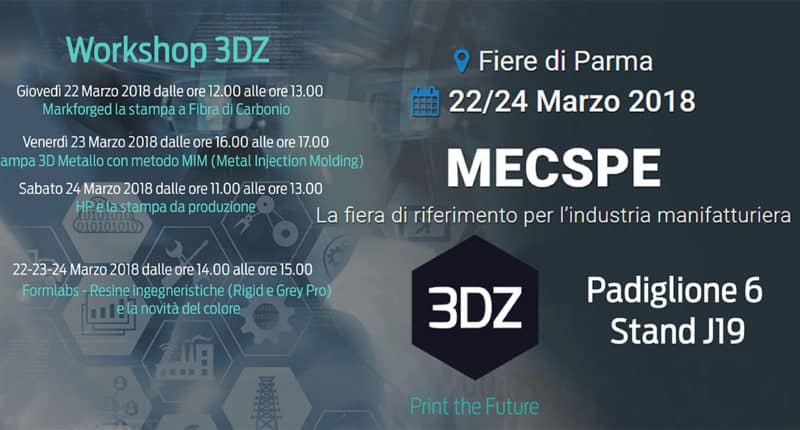 3DZ exposes at MECSPE 2018